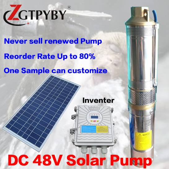 120m head dc pompe submersible submersible bombas para agua solar irrigation water pump kit for pozo