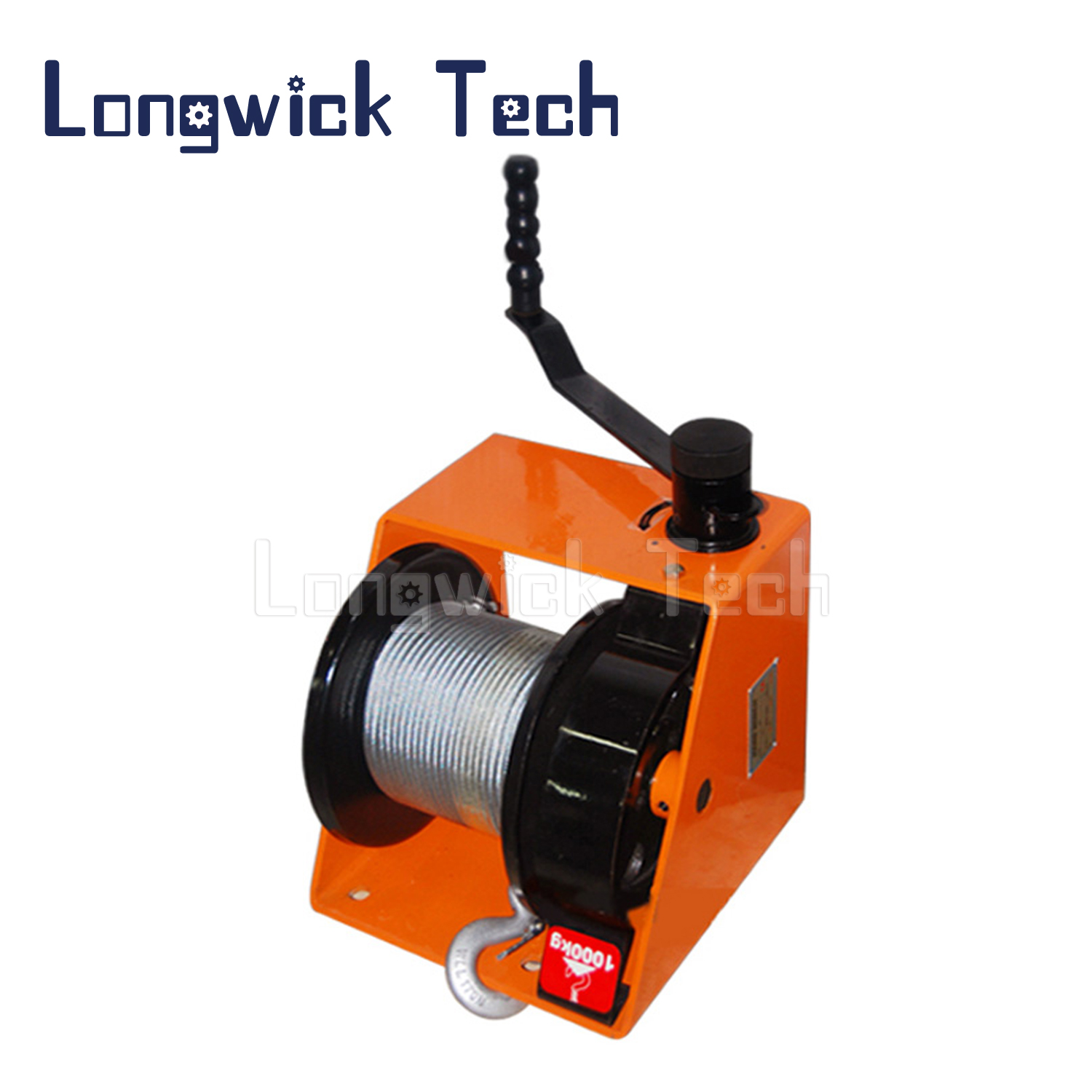 Lifting Hoist Yacht Boat Wire Rope Hand Manual Worm Gear Winch