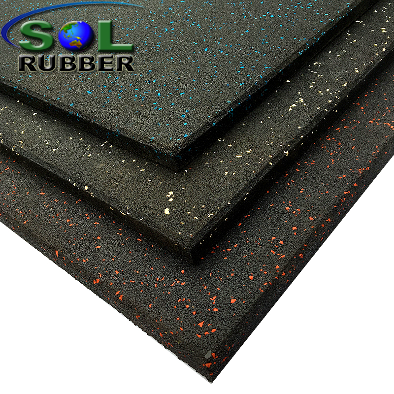 CE certificated rubber gym floor tile