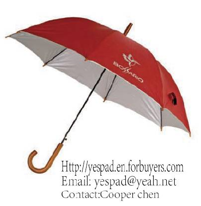 Straight Auto Polyester with Silver Coating Advertising Umbrella,Gift Umbrella