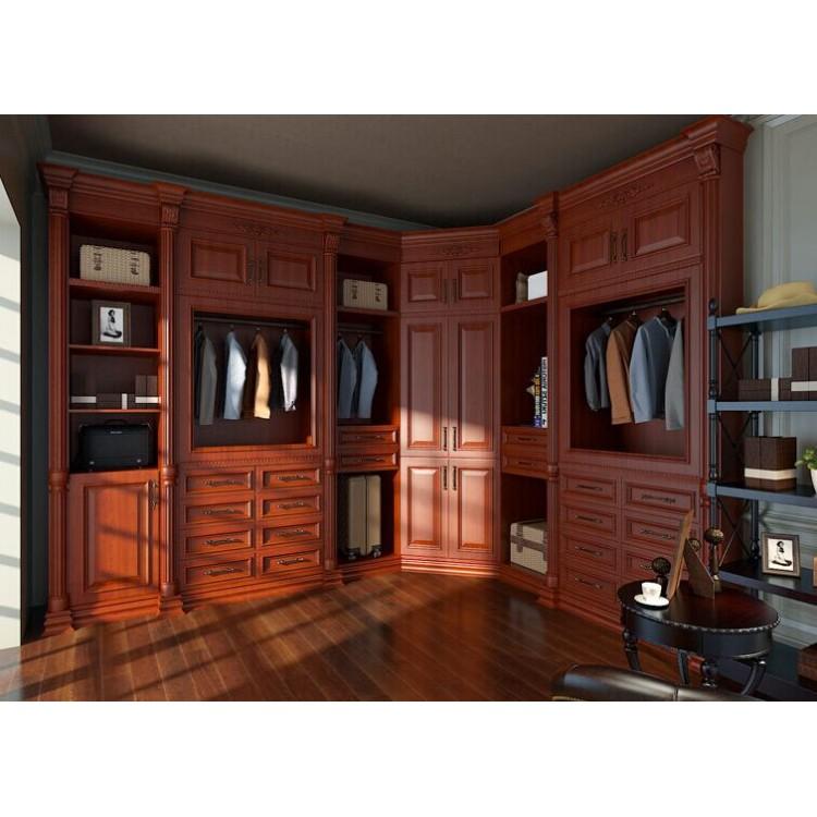 Customized design solid wood wardrobe WR036