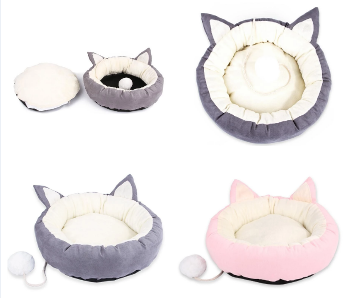 Fine appearance soft plush pet bed mat soft touch pet bed round