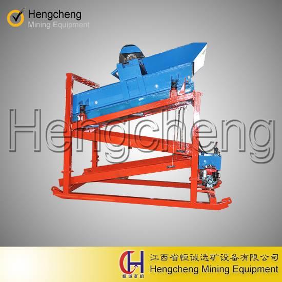 new design china gold mining machine mobile hydraulic vibration gold washing plant