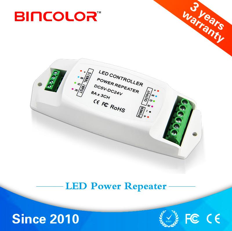 BC-960-8A DC5V-24V 3 Channel RGB led strip amplifier