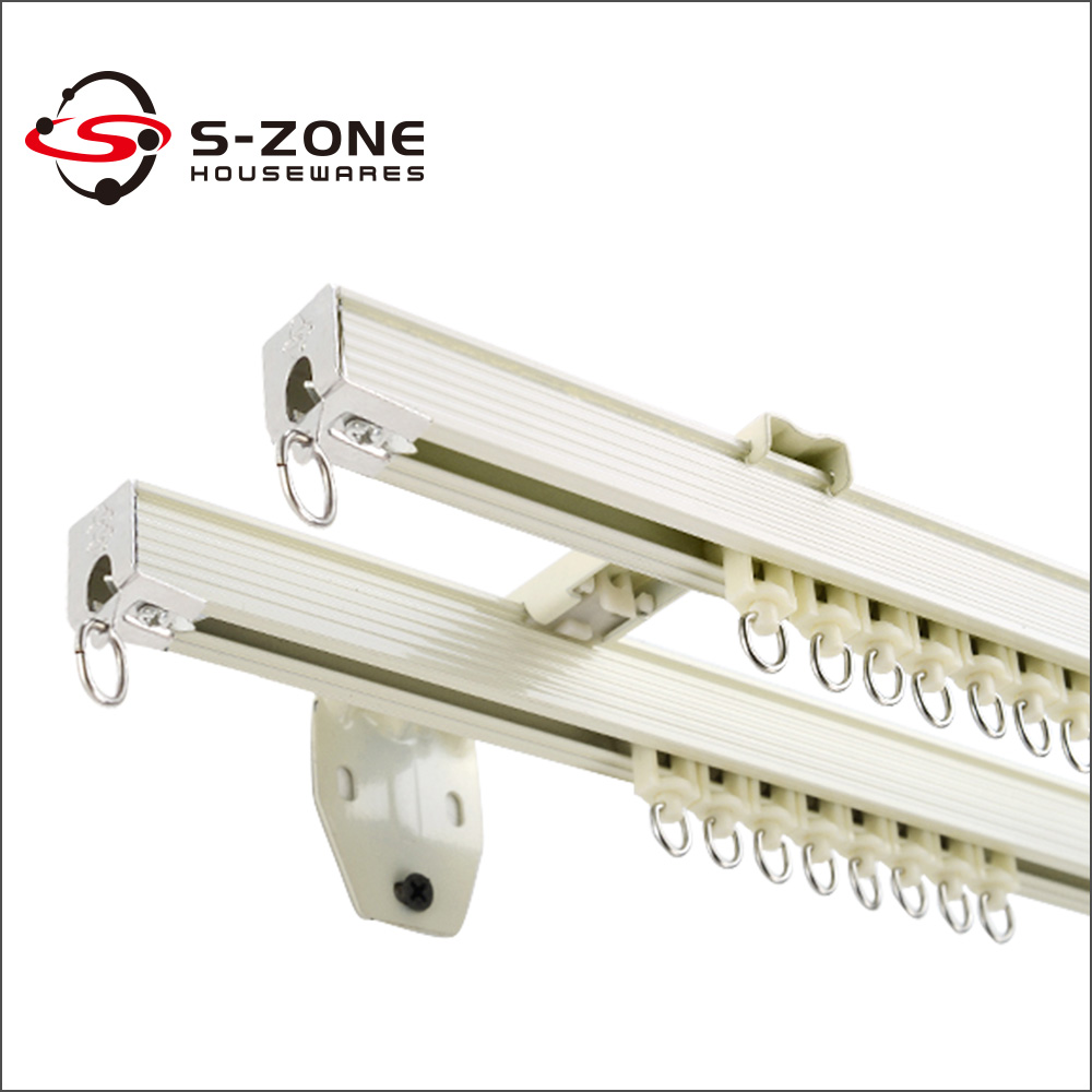Window hardware champage straight curtain sliding track factory