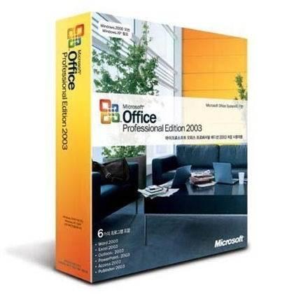 microsoft office 2003 professional retail box