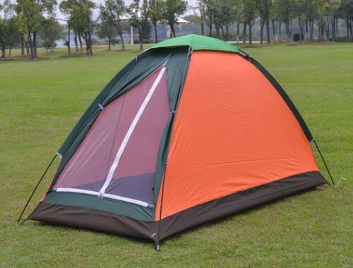 Camping tent good style waterproof single person single layer for outdoor fishing hiking mountain