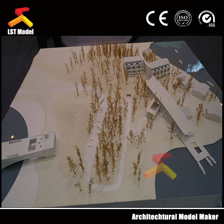 Greenland Group business tower architectural building model