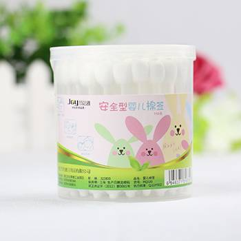 55pcs plastic stick cotton buds/cotton swab baby care sterile Q-tips manufacturer
