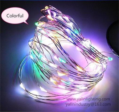 5V flexible LED copper wire light, Christmas holiday decorative RGB USB rope lighting