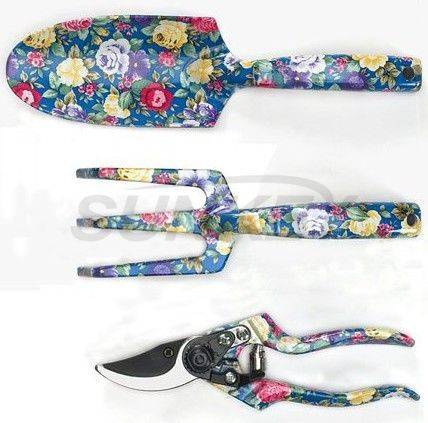 Printed Floral Garden Tool Set