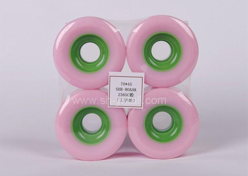 pu wheels for skate board 7045 PU Wheelspink pu pulley for skateboard