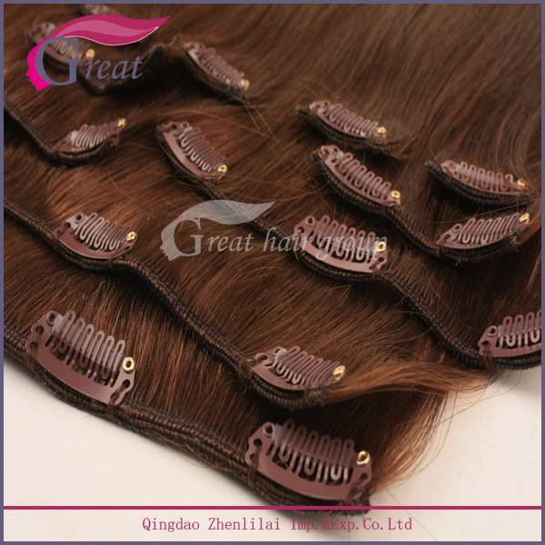 wholesale cuticle  Remy clip in hair extension