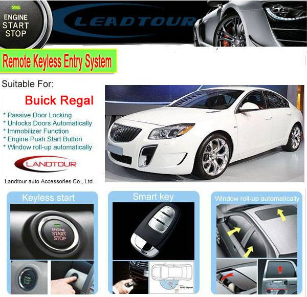 Car engine start button keyless remote start car alarm system for SGM Buick Regal 2012 popular car d