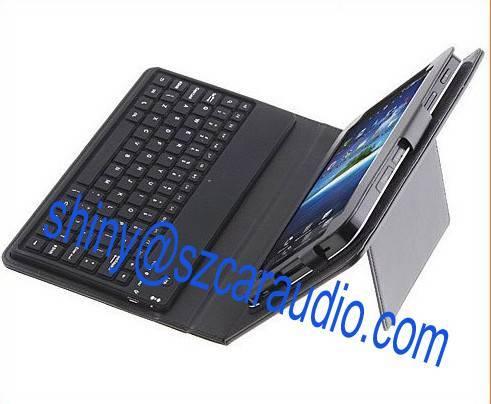 Wireless Bluetooth Keyboard Leather Case for Samsung Galaxy Tab P1000