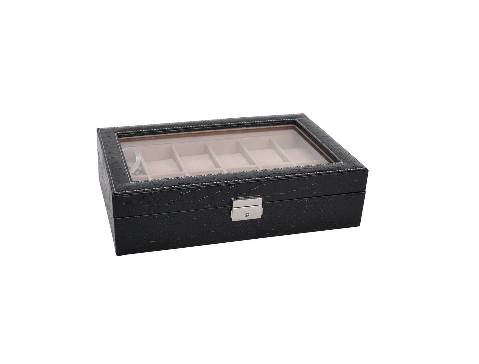 Leather Watch Box & Cases with 12 Slots Gift Packing