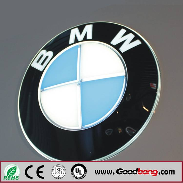 Standing Acrylic Car Sign Board / LED light Car Sign Board