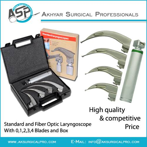 Fiber Laryngoscope Set