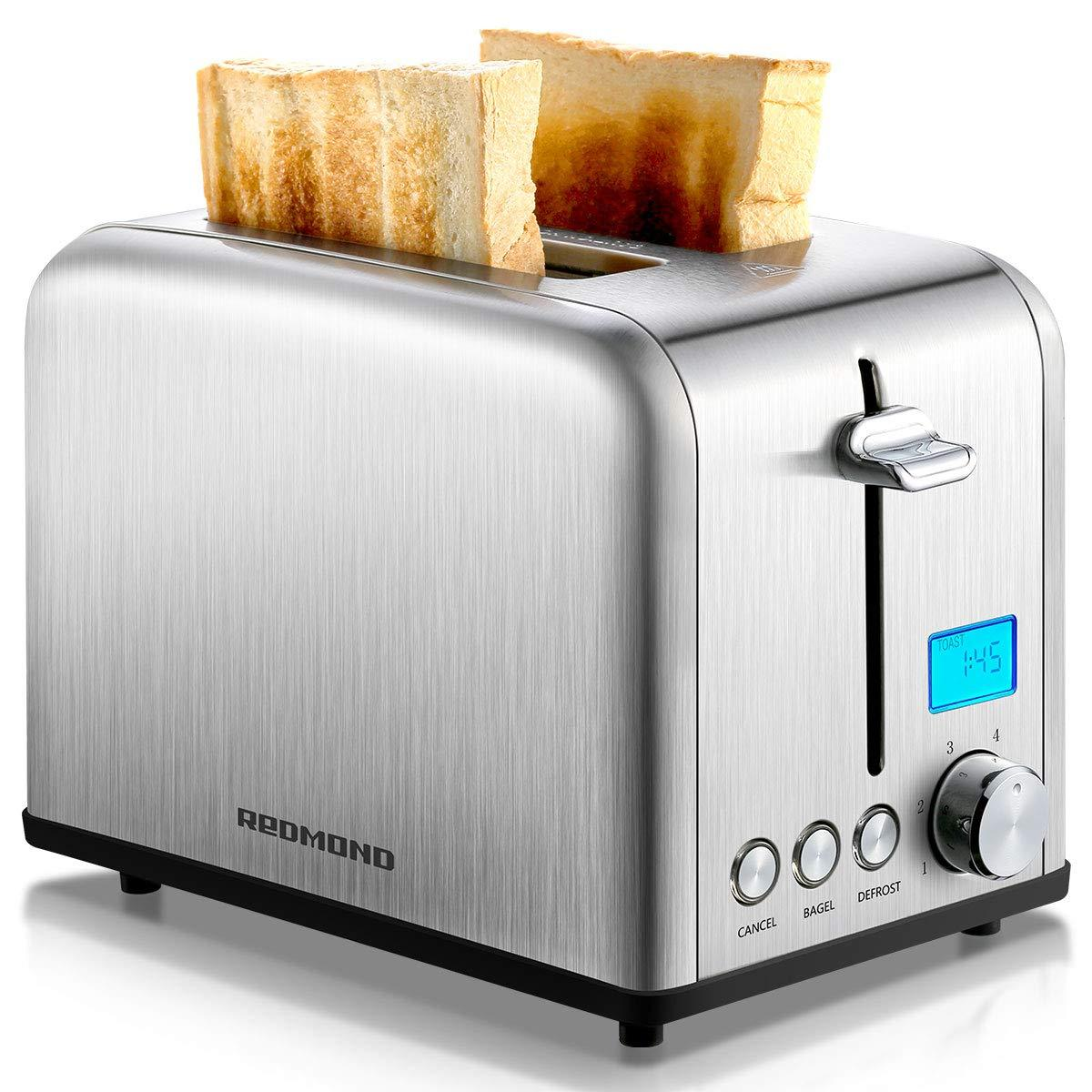 ST029 Stainless Steel Toaster w/LCD Timer 1.5 inch Extra-Wide Slots