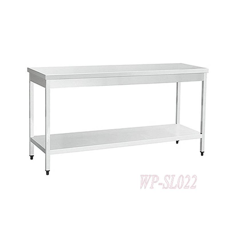 Italy Style Stainless Steel Commercial Kitchen Working Table with Under Shelf