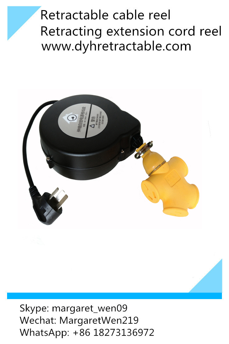 Retracting Electrical Extension Cord Reel Retractable Cable