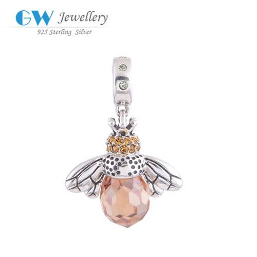 Hot Sale 2016 New Products Wholesae Bee Pendants Animal Charms
