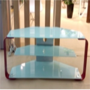 new design bright glass tv stand