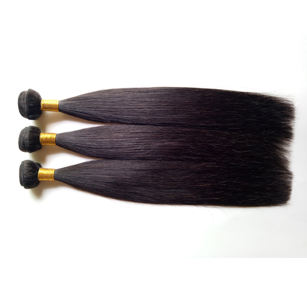 Hair weft Human hair Natural black straight 100g Factory direct sale