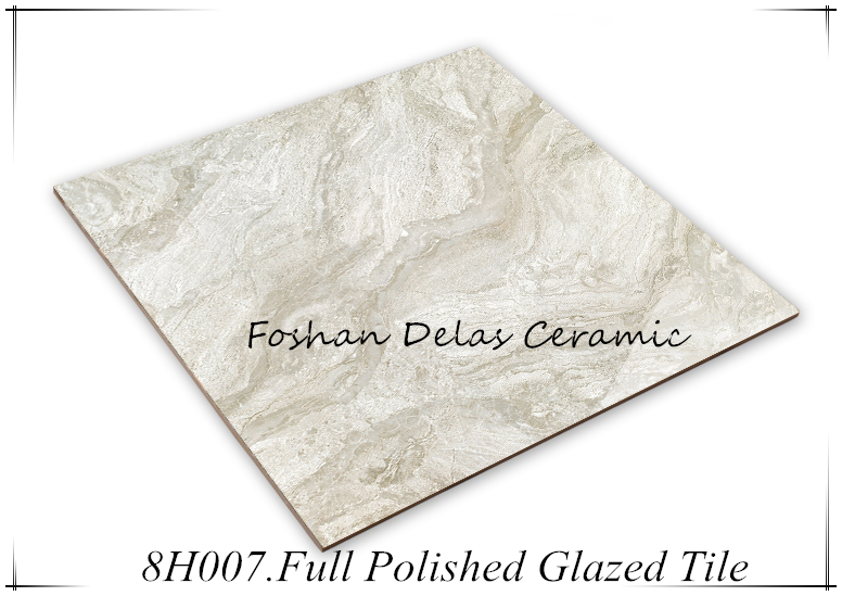 8H007 High Flatness Glossiness Glazed Vitrified Floor Tile 800x800
