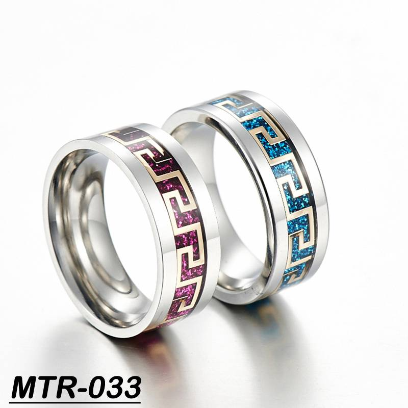 New design finger ring Greek key finger ring tungsten carbide man ring