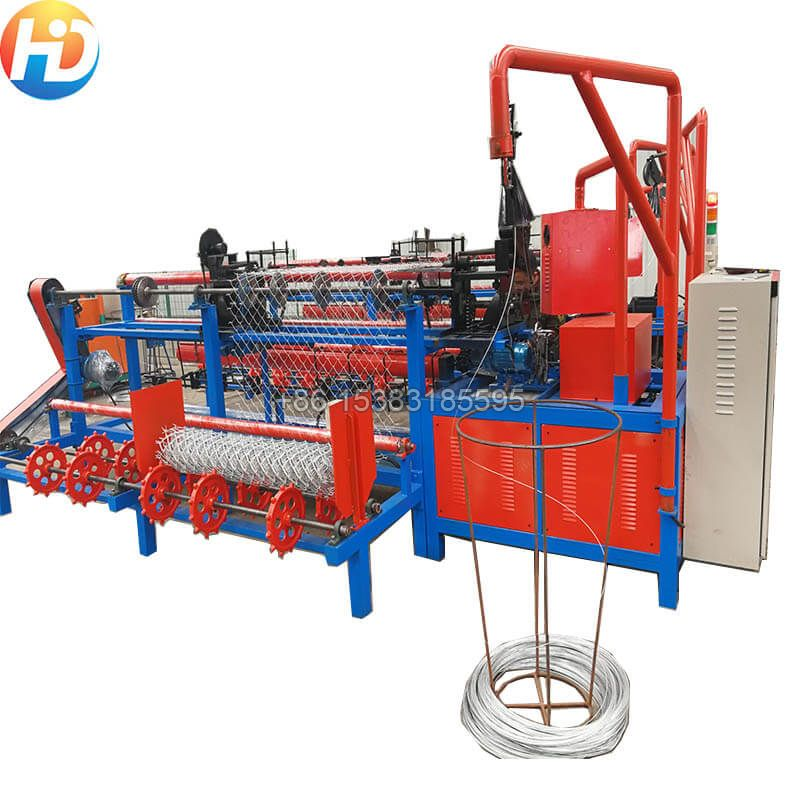 Double Wire Fully-Automatic Chain Link Fence Machine