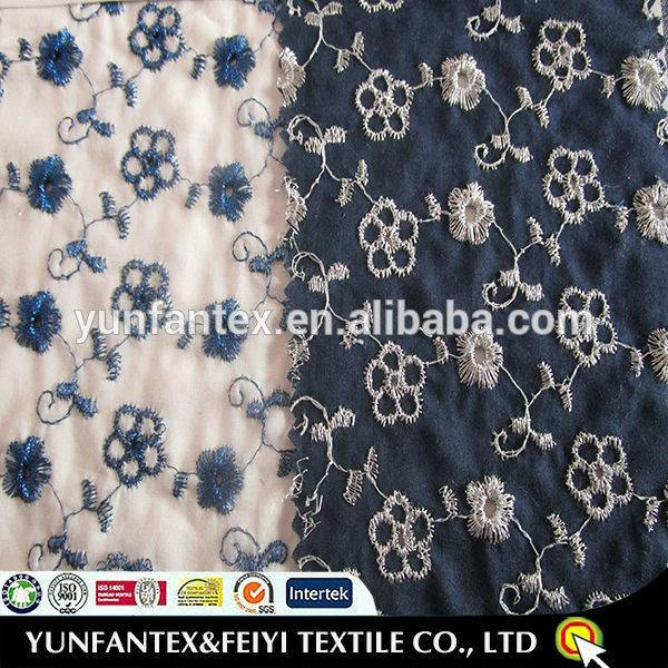 Woven fashion emb lace metal fabrics for skirt in stock