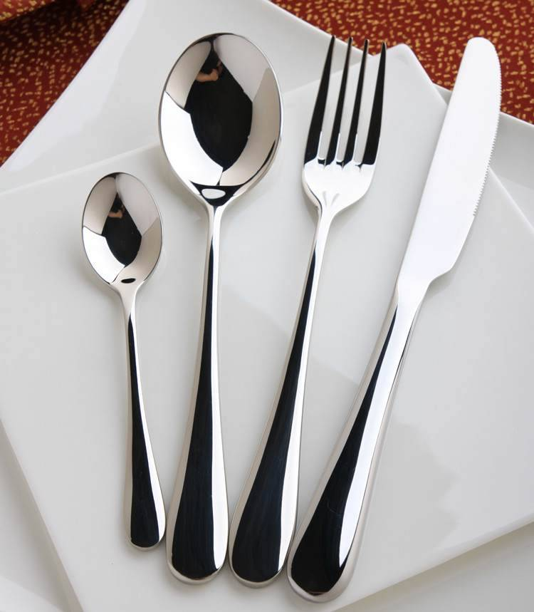 4Pcs Inox Knife Fork Spoon,Stainless China Flatware,Restaurant Cutlery Whole Sets high quality spoon