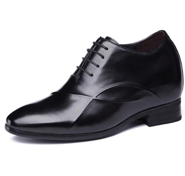 New Men's Height Increasing Dress Formal Shoes with Hidden Insoles Elevator Shoe Get Taller 9 CM
