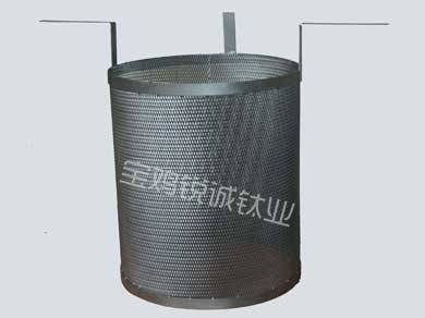 Titanium anode cylinder for sewage disposal