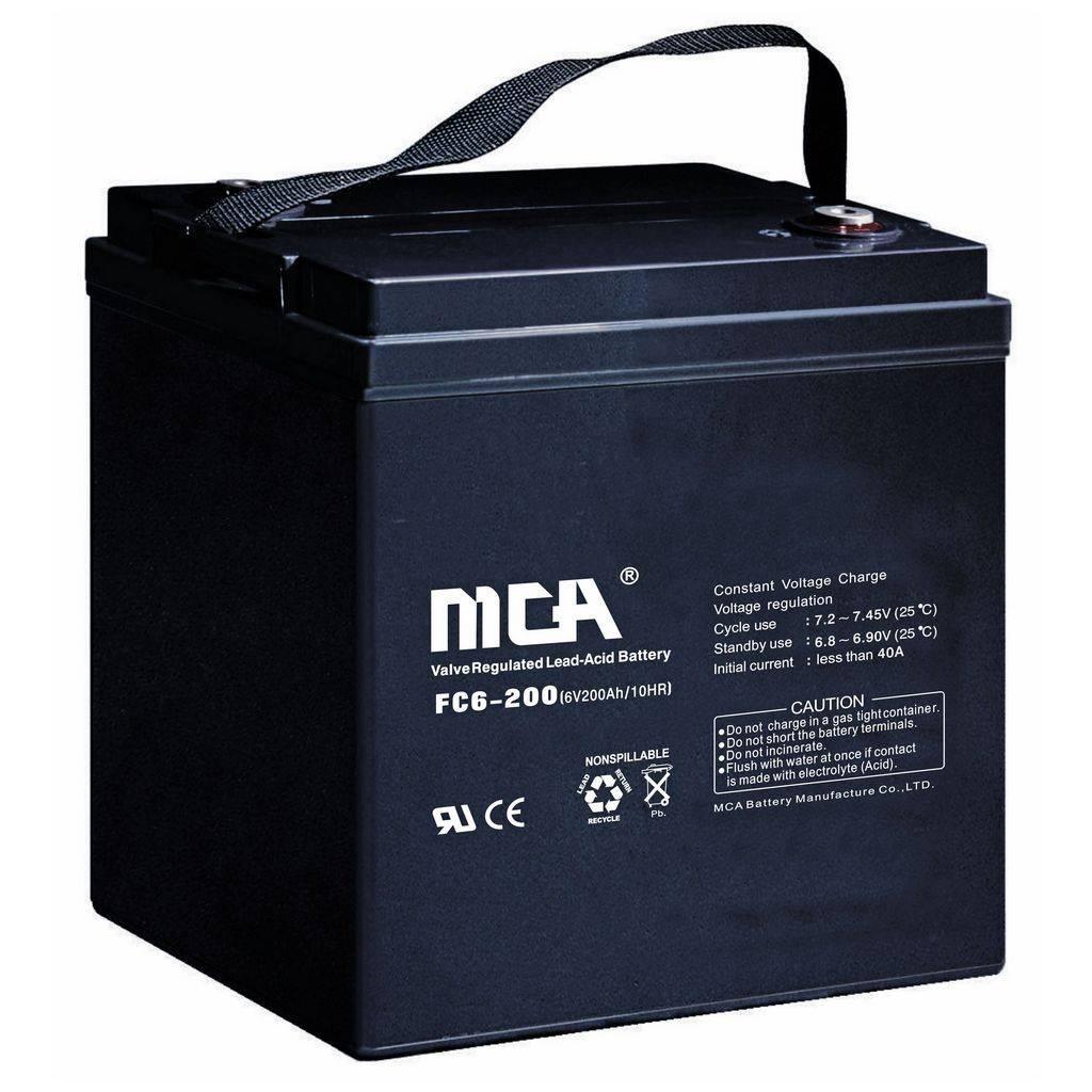 6V200AH VRLA battery