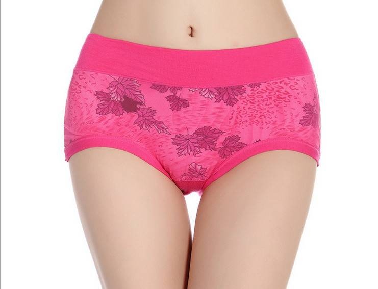 Flower Printing smooth lightweight Micro Fiber brief panties 5107#