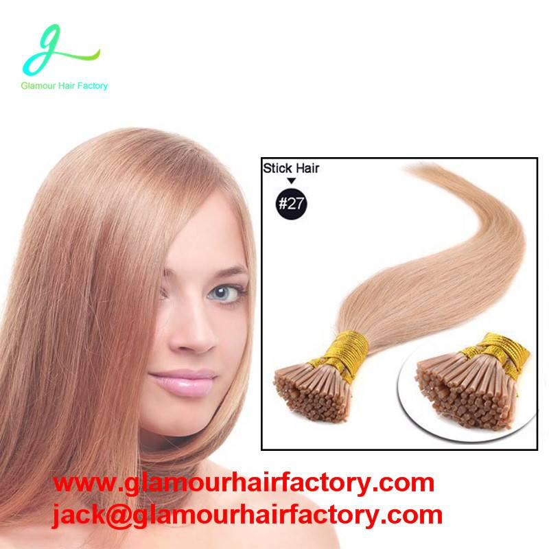Pre bonded Stick Hair I Tip Keratin Hair Extension 100% Indian Human Remy Hair Extension