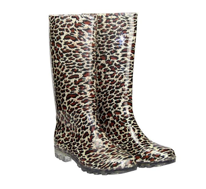 women pvc material rain boots rain shoes
