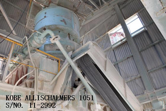 USED KOBE ALLIS-CHALMERS 10-51 (51 X 10) HYDROCONE (EXCONE) CRUSHER S/NO. 11-2992