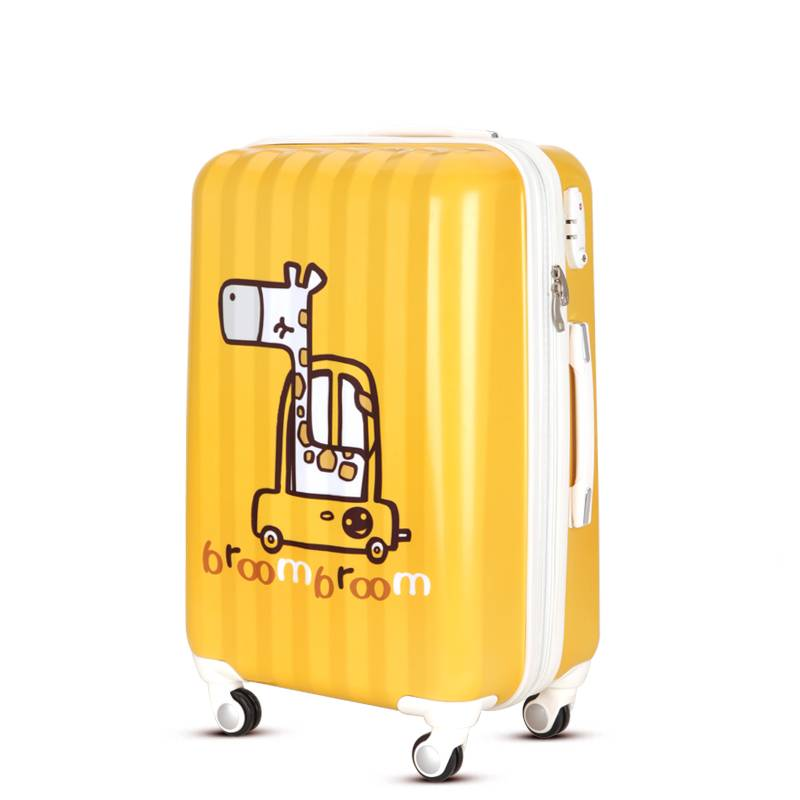 ABS PC travel luggage with printing apttern design
