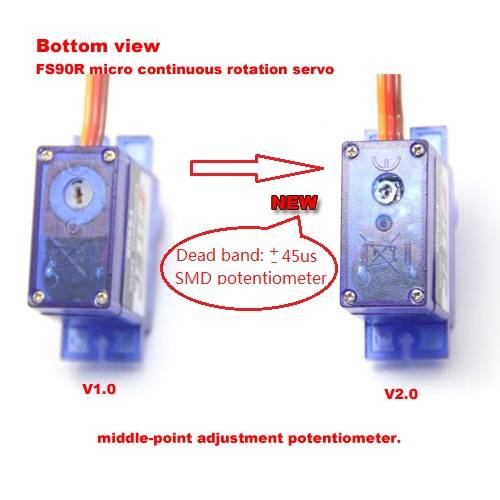 Feetech 9g Micro Continuous Rotation Servo-FS90R