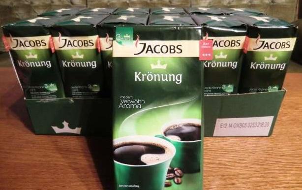 Jacobs kronung ground coffee 250g-500g