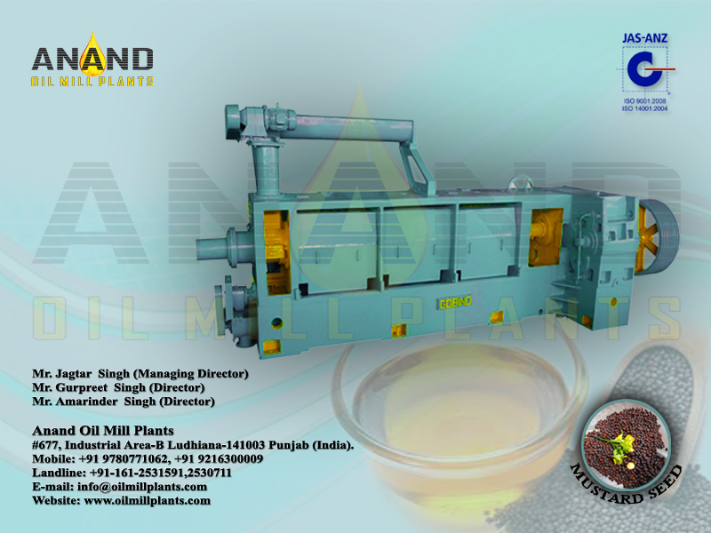 Mustard Oil Expeller Machine Manufacturers Exporters in India Punjab