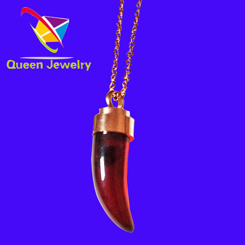 Wholesale Charms Pendant with ros Gold Plated Popular necklace red agate jewelry fashion necklace