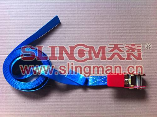 China supplier 25mm cambuckle ratchet lashing strap tie down web lashing