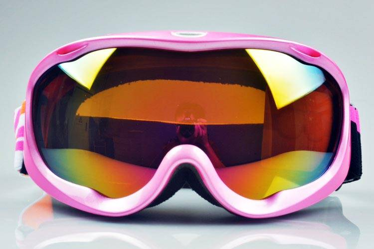 2014 high quality TPU flexible frame anti fog best ski goggles