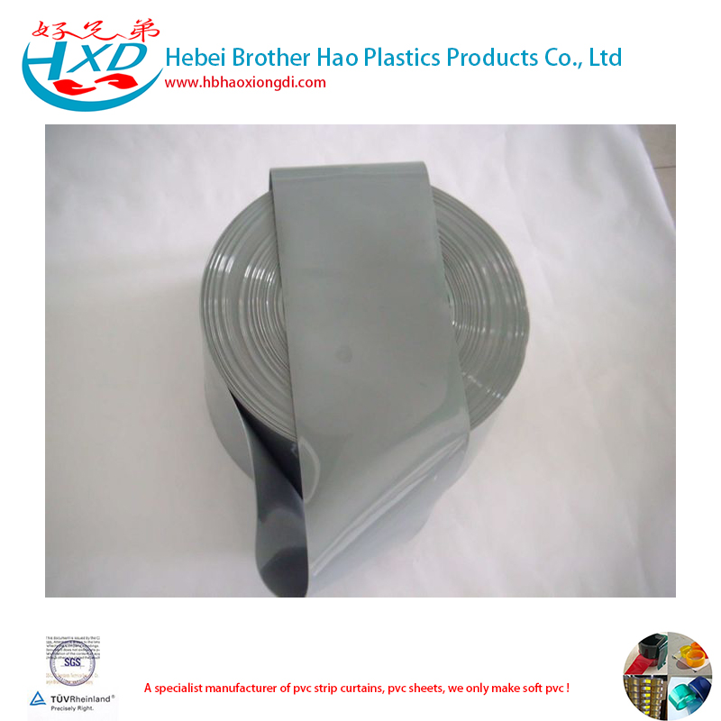 Opaque Grey Flexible 4mm Thick Plastic Curtain
