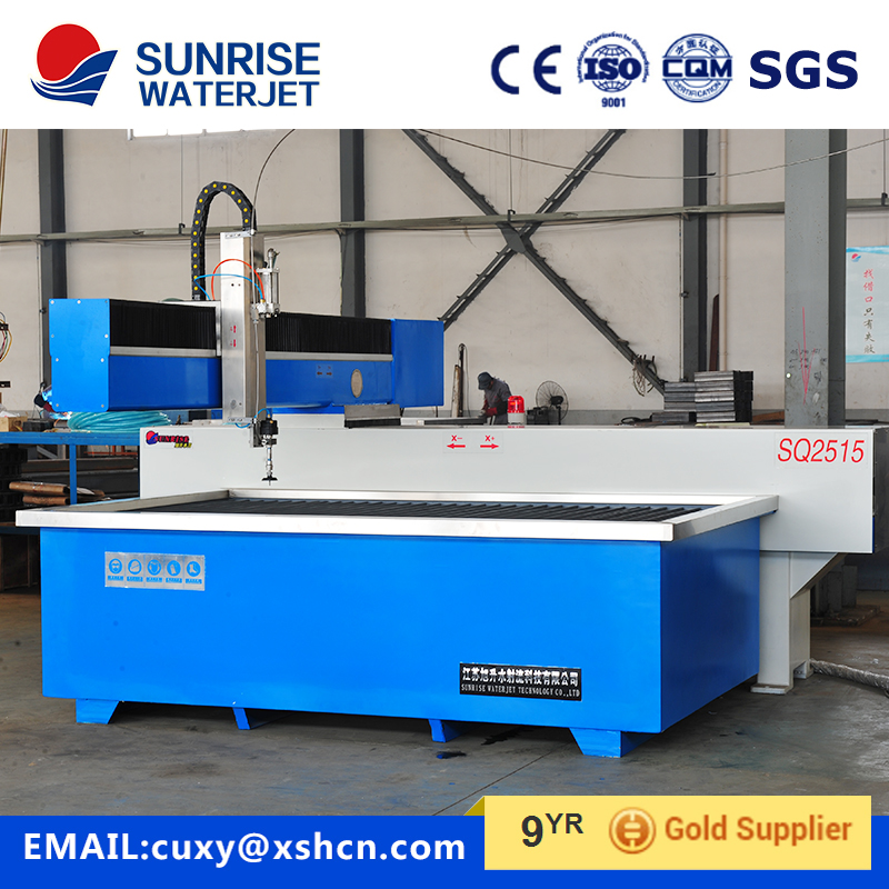 cantilever type waterjet cutting machine for metal cutting