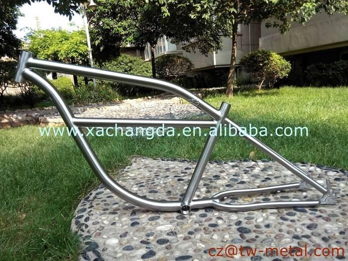 Titanium cruiser/ newsboy bicycle frame customized Ti e-bike bike frame
